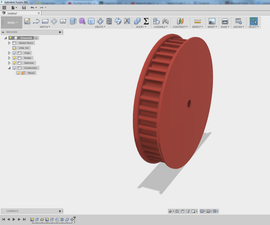 Design a Parametric Pulley (DXF / STL)