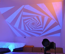 Put UV tatoo on your wall