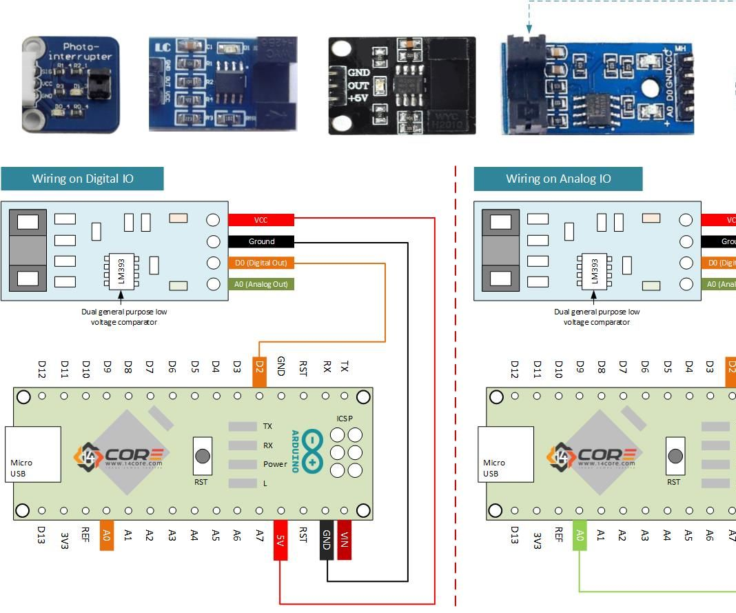 How To Use Moc78xx H206 Gp1a57hrj00f Opto Interrupter For Motor Slotted Switch Speed Direction Detection Control On Arduino