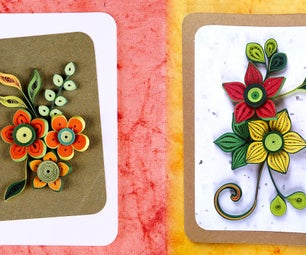 How to Make Homemade Greeting Cards | Paper Quilling Greeting Cards