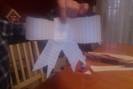 Lined Paper Christmas Bow