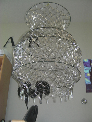 Fabricate an elegant chandelier from paperclips 10 steps with picture of second hang it and third and aloadofball Gallery