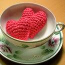 Crocheted Amigurumi-style Hearts