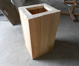 My new wooden garbage box
