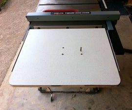 Add a jig saw table to your table saw