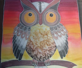 """""""Little Owl"""" Silkpainting"""