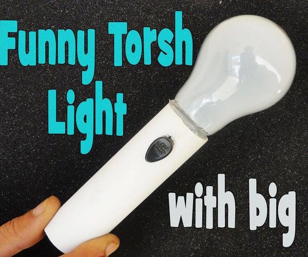 Make funny Torch LED Light with big Bulbs Life Hacks .