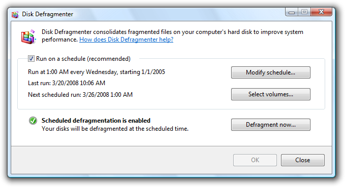 Picture of Disk Defragmenter