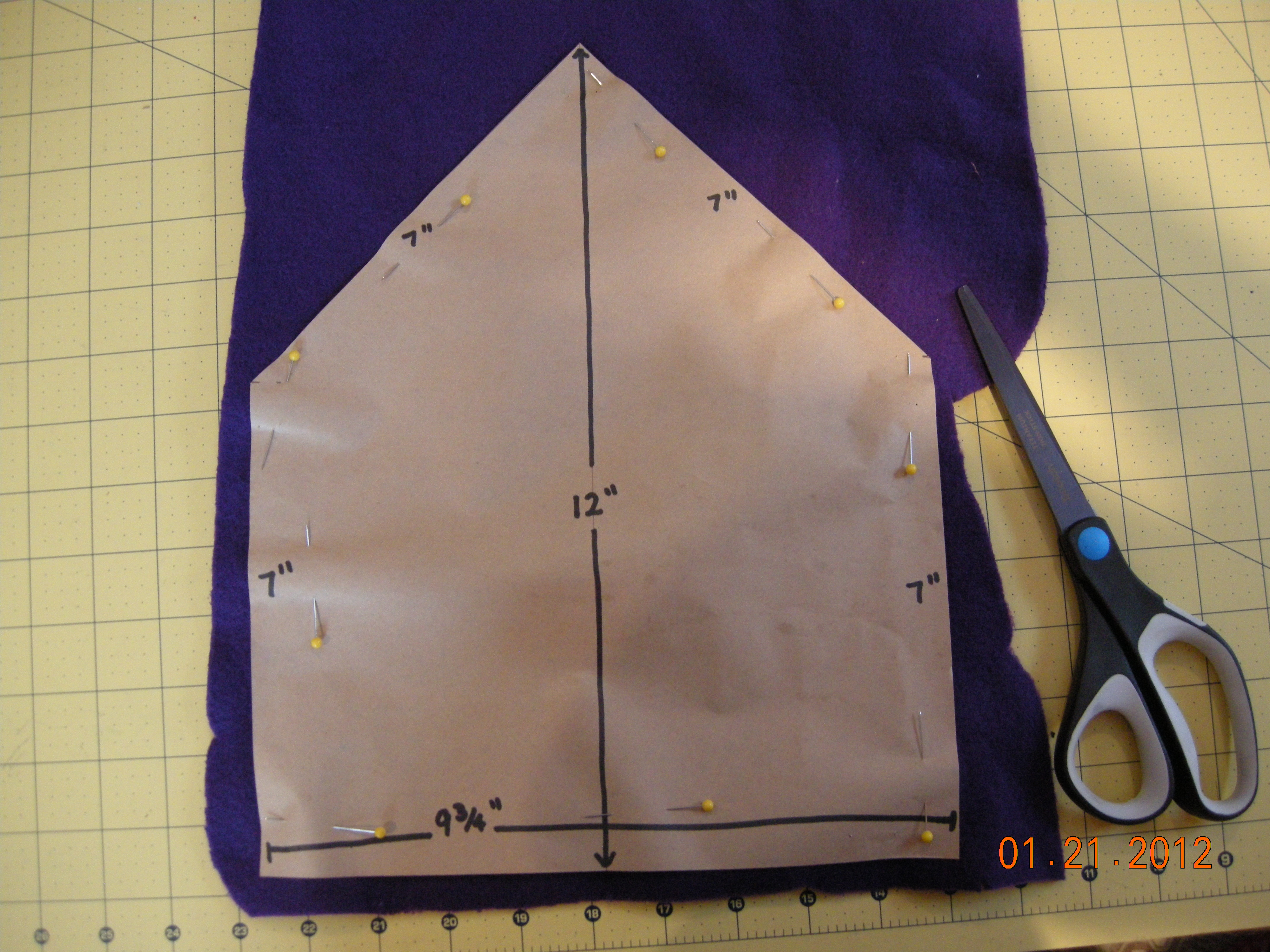 Picture of Step 1: Making the Fleece Lining