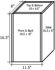 Picture of External Dimensions Given the Internal Volume