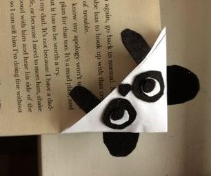 Cute Panda Corner Bookmark :)