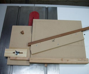 Table Saw Sled for Precise Angled Cuts