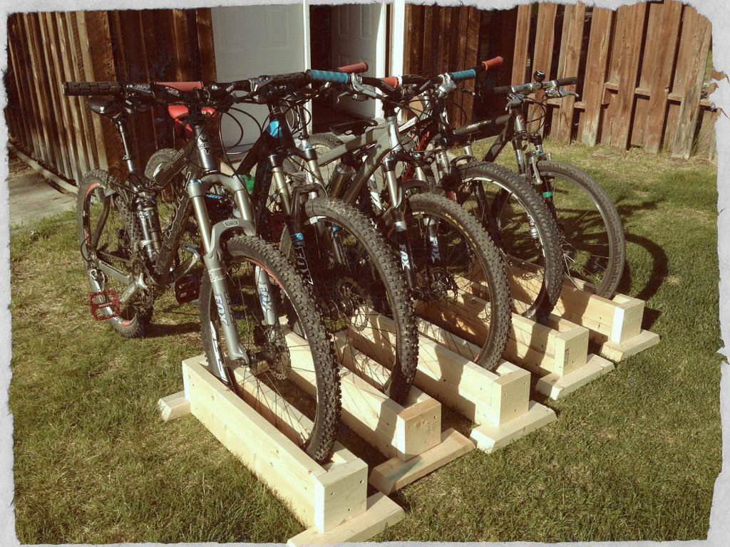 Picture of Scrap Wood Bike Stand (self Supporting)
