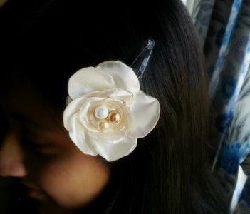 DIY Satin Flower Hair Clips