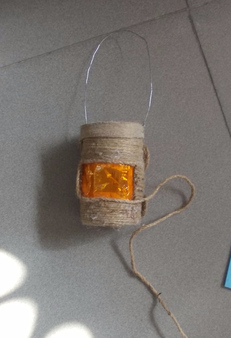 Picture of Use the Bigger Hemp String to Glue Around the Rectangle Hole.