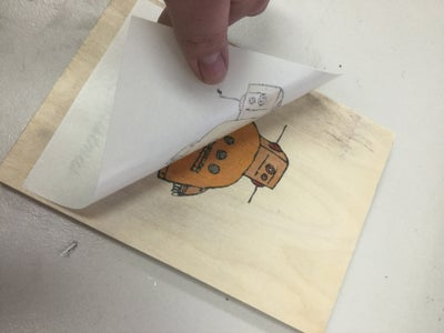 Applying the Ink to the Wood