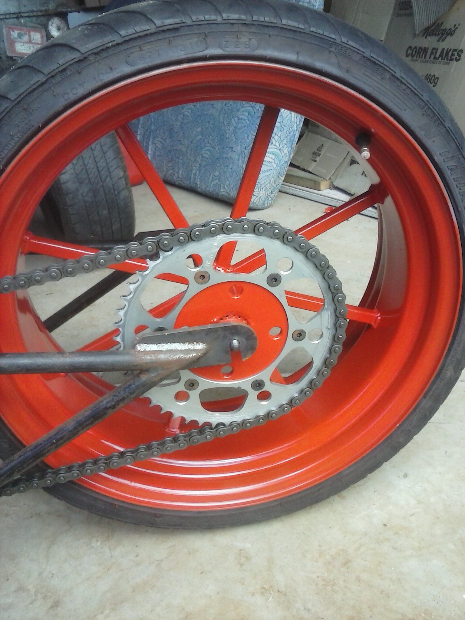 Picture of The Finished Wheels on Bikes!