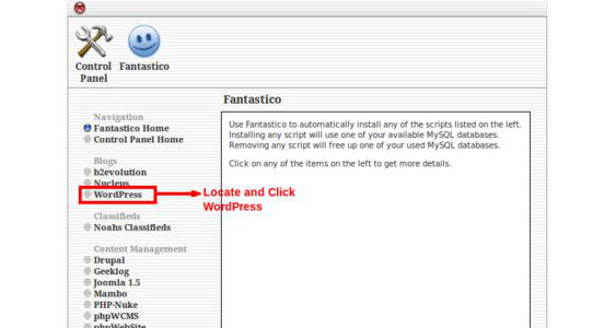 Picture of Step 3: Locate and Click WordPress