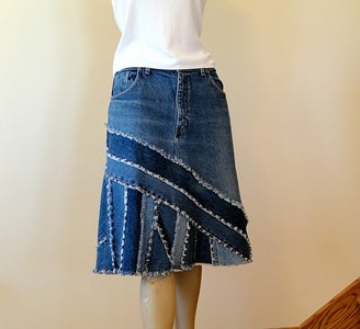 Turning Jeans Into a Jean Skirt