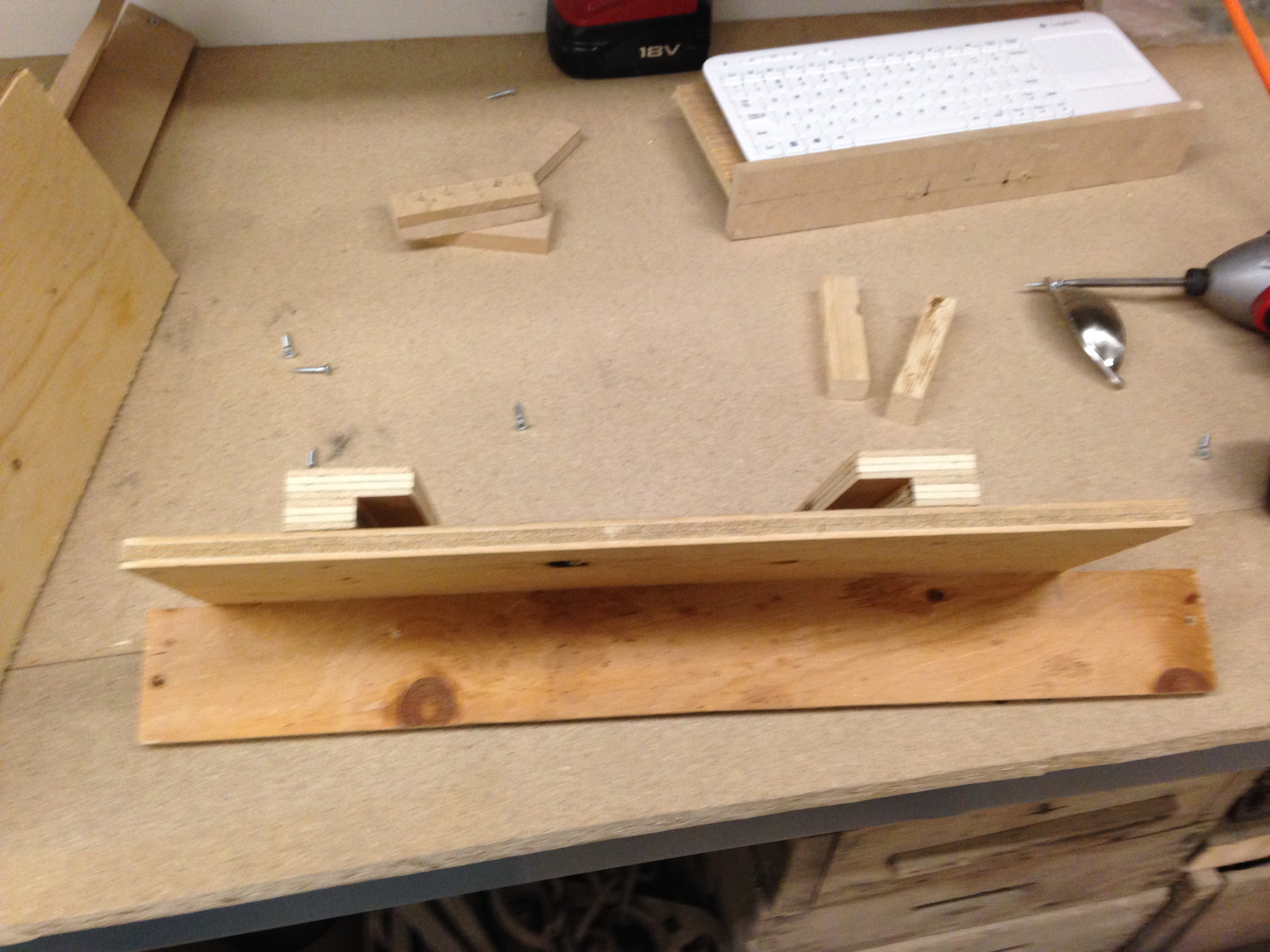 Picture of Mounting Monitor and Keyboard Drawer