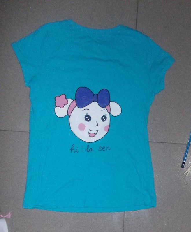 Picture of HOW TO PAINT a MISS LA SEN T-SHIRT