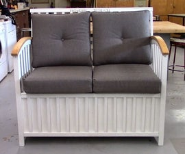 How to Turn an Old Baby Crib Into a Storage Bench