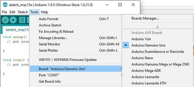 Configuring the Arduino IDE