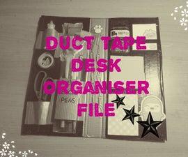 Duct Tape Desk Organiser File