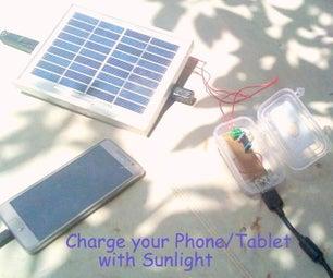 DIY-Solar Energy USB Phone/Tablet Charger
