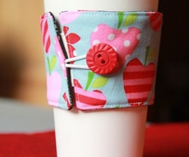 Reversible, Reusable Coffee Cup Sleeve