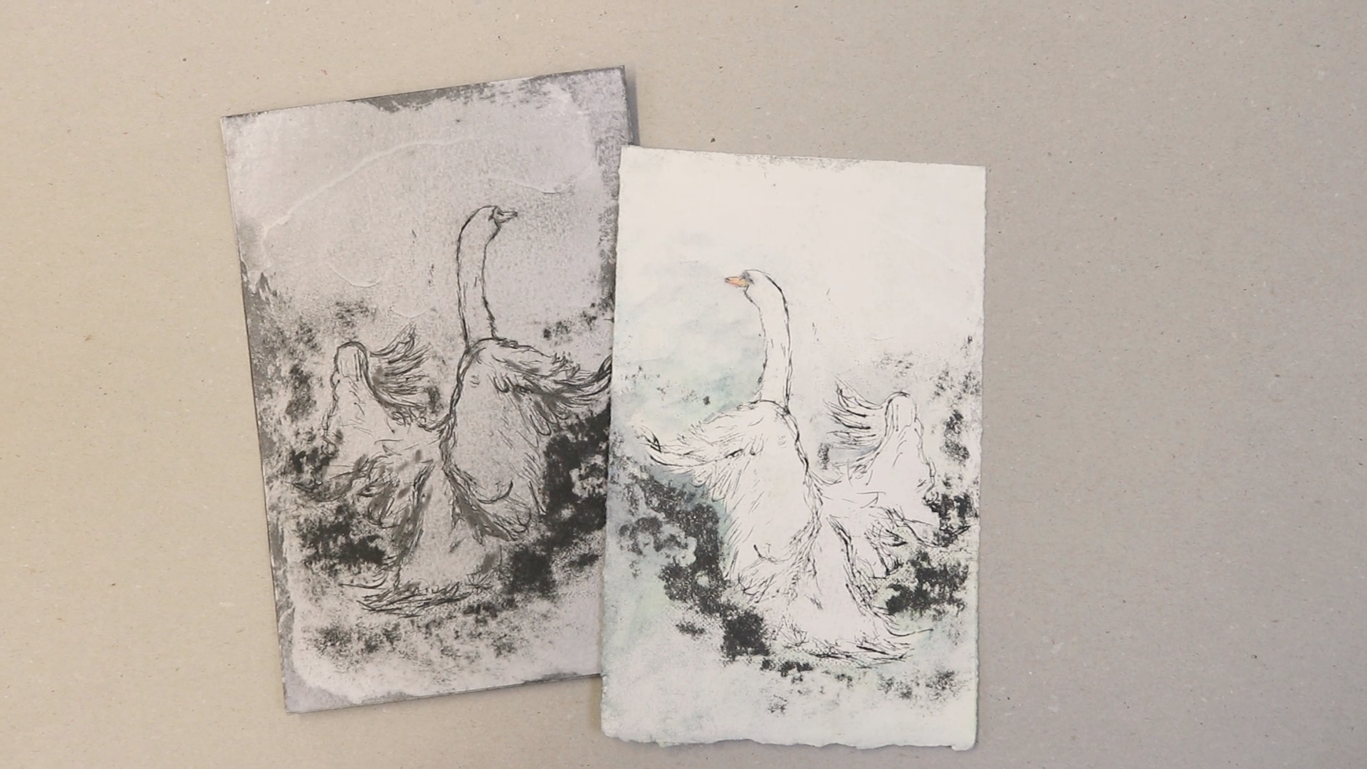 Picture of Make a Drypoint Print Using Recycled Cardboard
