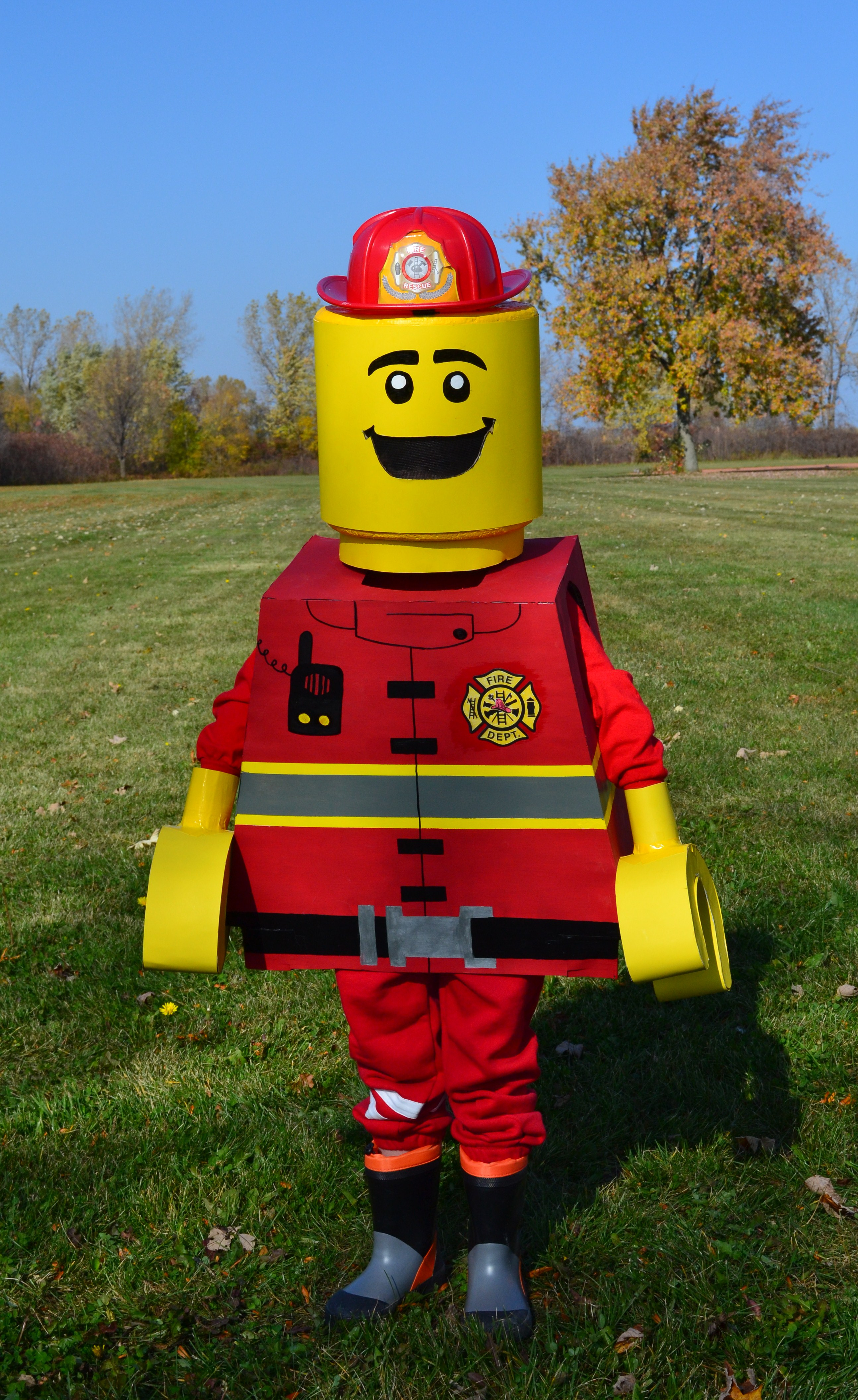 Picture of Lego Fireman Minifigure Costume