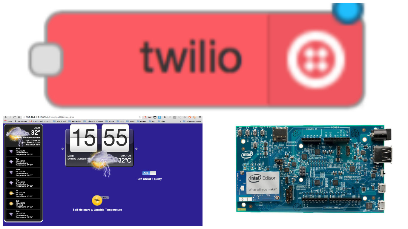 Picture of Garden Monitor & Control System Using Intel Edison, Node-Red & Twilio