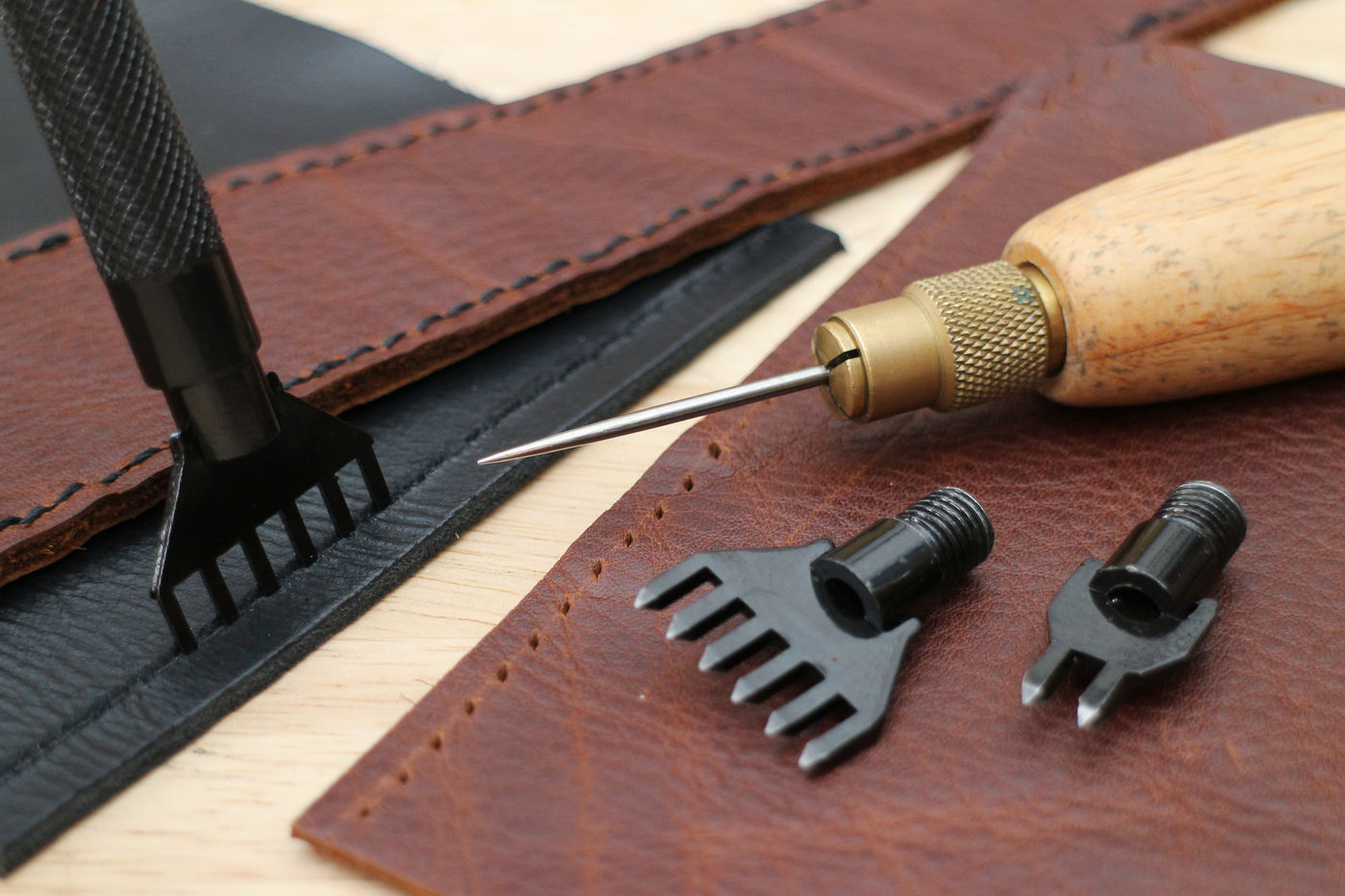 Picture of Creating Sewing Holes in Leather