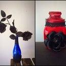 Diy Gothified Jar and Vase Embellishments