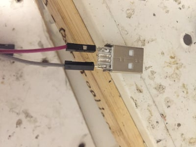 Step 2 -  Solder Jumpers to the Usb Connector