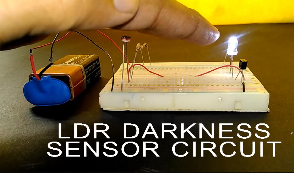How to Make LDR Darkness Sensor Circuit Simple DIY: 7 Steps