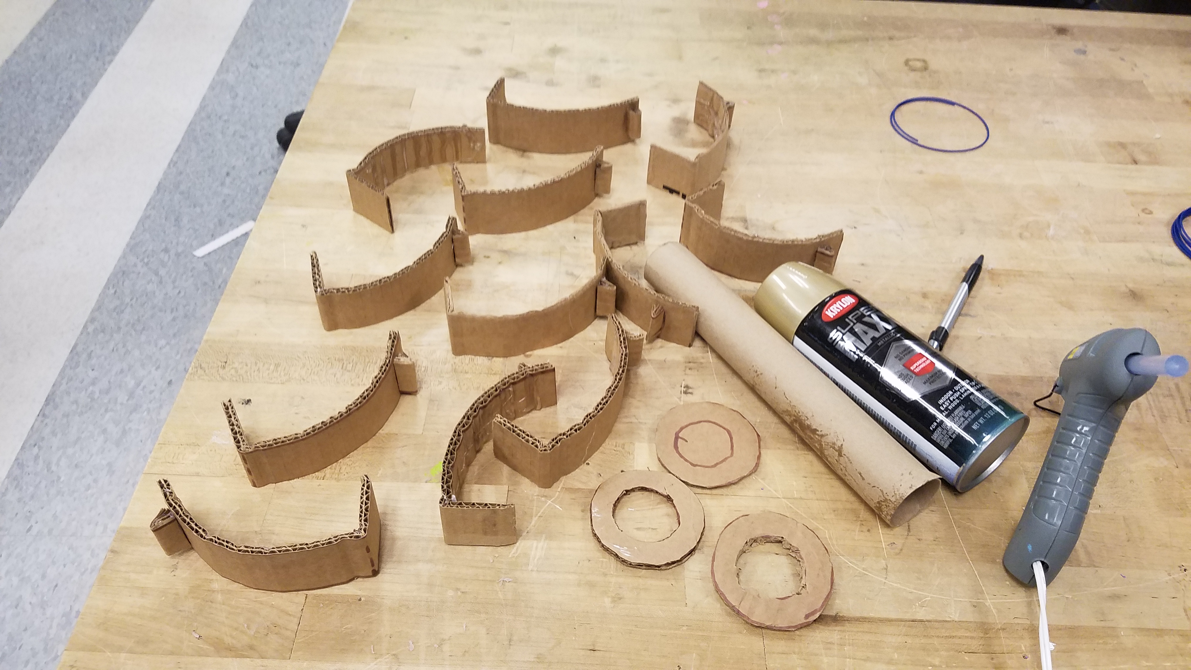 Picture of Cut and Glue Little Handles for the Doors.