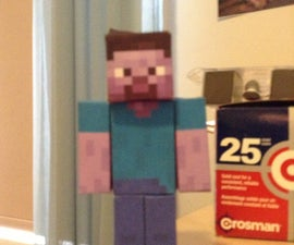 Paper Minecraft Statue