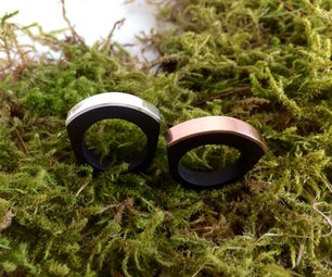 Make a Ring With Hardwood and Silver or Copper