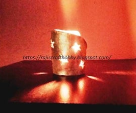 DIY Clay Votive Candle Holder