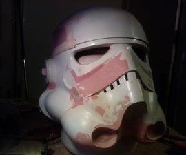 Stormtrooper helmet fan made.