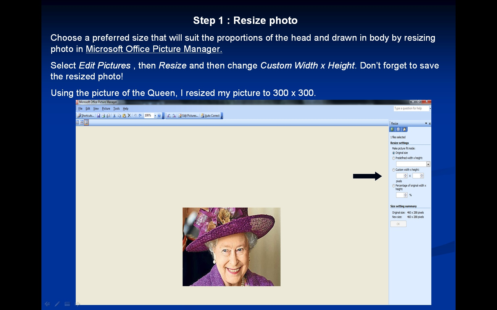 Picture of Resizing Digital Photos