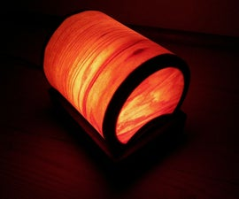 Bent Veneer Wood Lamp