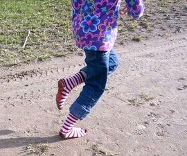 Barefoot Running Plasti-Socks