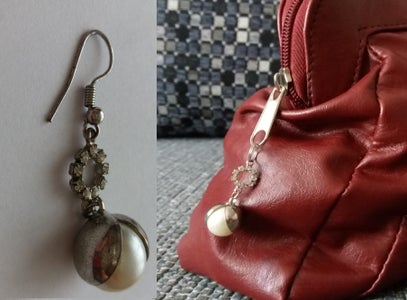 Old Earring to Keychain
