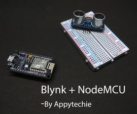Node:Ultrasonic Sensor With Blynk