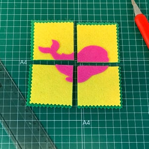 Cut Your Shape in 4 Pieces (or Left 2 Pieces for Little Ones)