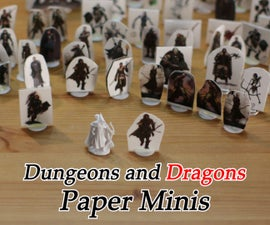 Dungeons and Dragons Paper Miniatures (Pathfinder, Warhammer, Etc.)