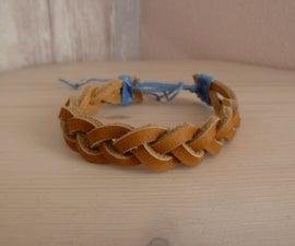 Braided suede shoelace bracelet